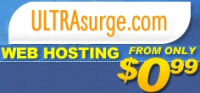 UltraSurge Web Hosting from $0.99
